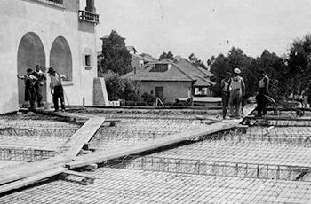 Inmobiliaria y constructora en S'Agaró - Encofrado y ferralla Fotografía histórica